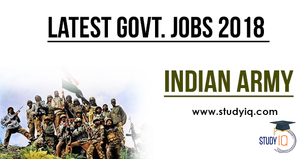 govt job indian army